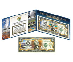 National Park Two Dollar Bills